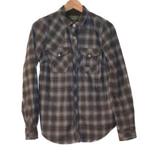 Eddie Bauer Pindleton Wool Flannel Button Down Top